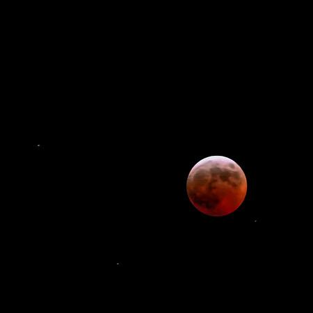 Moon eclipse, Villasanta, Italy, 2007, March 3