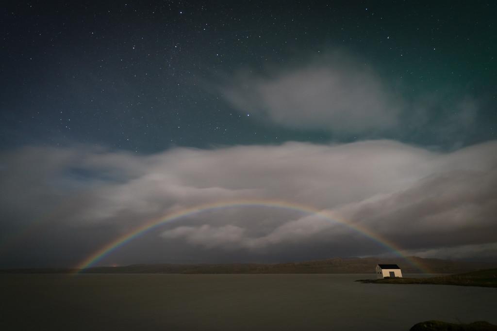 Moonbow, Meet Aurora || Egilsstadir, Iceland