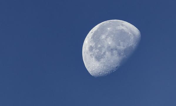 The Moon taken at dawn from Rifugio della Cicerana, Italy