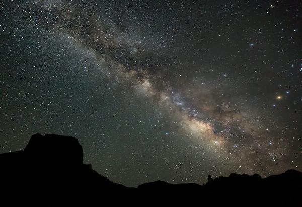 Milky Way Over Casa Grande - Big Bend National Park