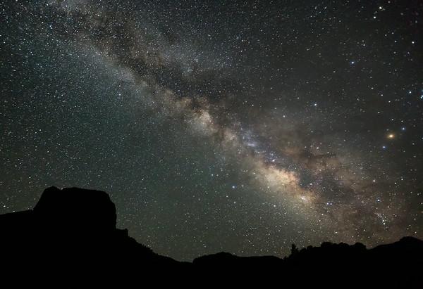 Milky Way Over Casa Grande - Big Bend National Park