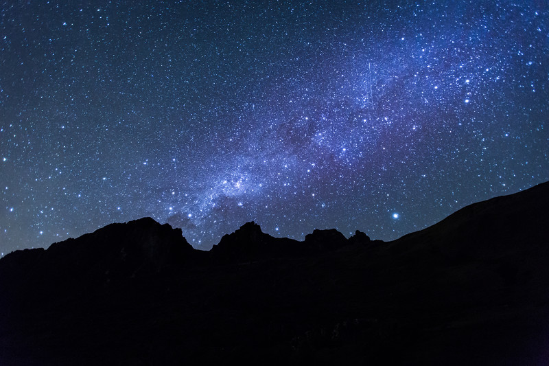 The Milky Way from the Peruvian Andes
