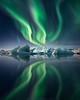 Lights over Ice lagoon