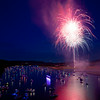 Fireworks over Lake Austin, red, white and blue (2014) - Austin, Texas
