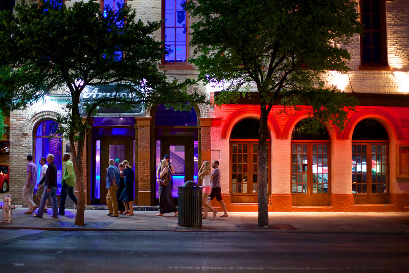 Purples and Red Arches, 6th Street - Austin, Texas