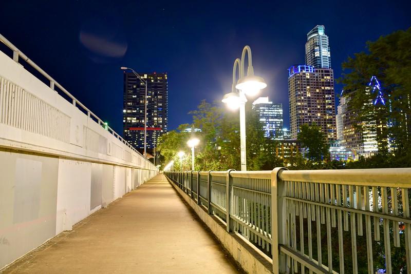 Bridge and Skyline - Austin, Texas