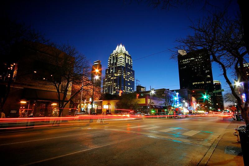 6th Street Light Trails - Austin, Texas