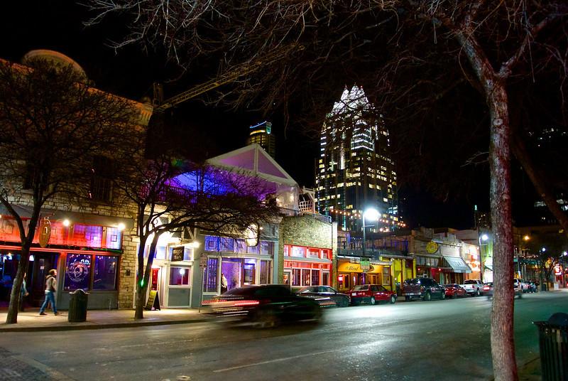 Speeding Car, 6th Street - Austin, Texas