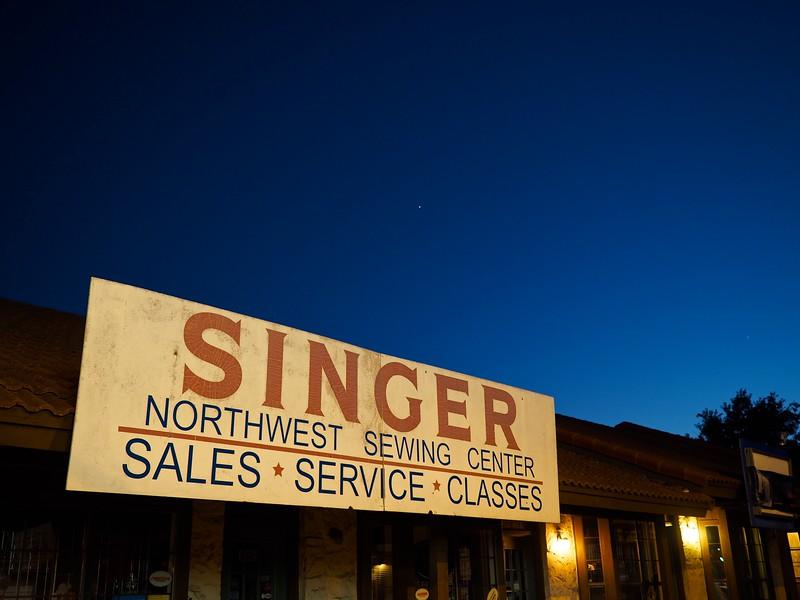 Singer at Blue Hour, Burnet Road - Austin, Texas