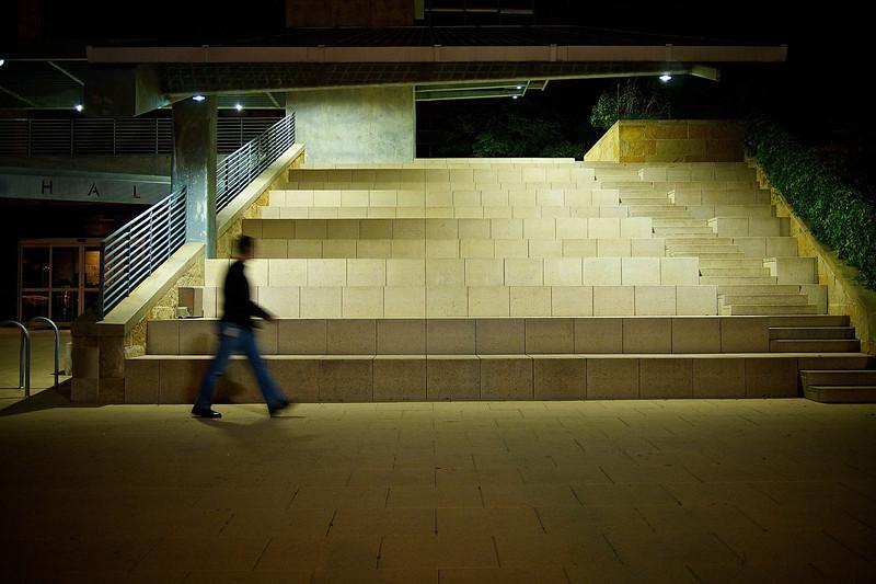 City Hall Seating at Night - Austin, Texas