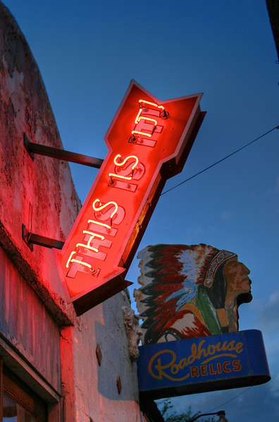 Roadhouse Relics Sign - South 1st, Austin, Texas