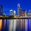 Skyline and Ladybird Lake at Blue Hour - Austin, Texas