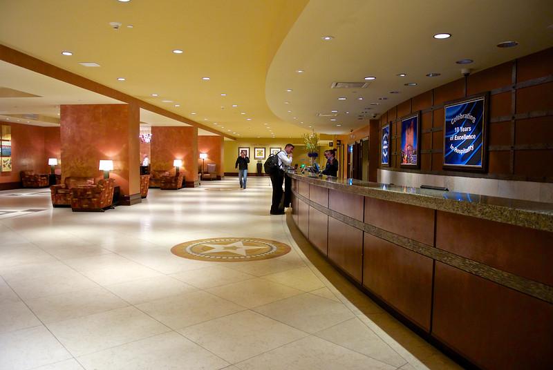Checking In, Hilton Hotel - Austin, Texas