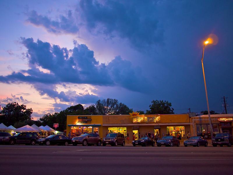 Blue Clouds over SoCo - Austin, Texas