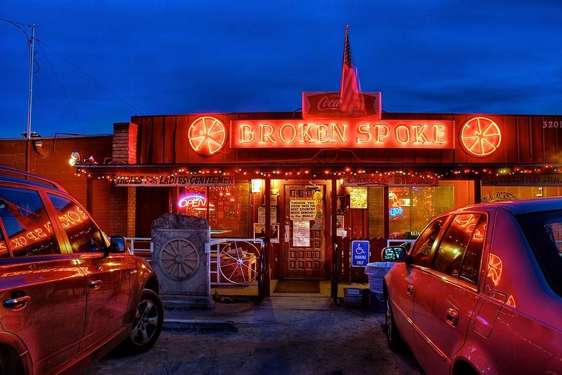 The Broken Spoke at Blue Hour - Austin, Texas