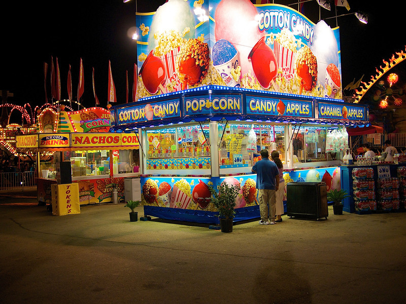 Glowing Food Stands, Rodeo Austin - Austin, Texas
