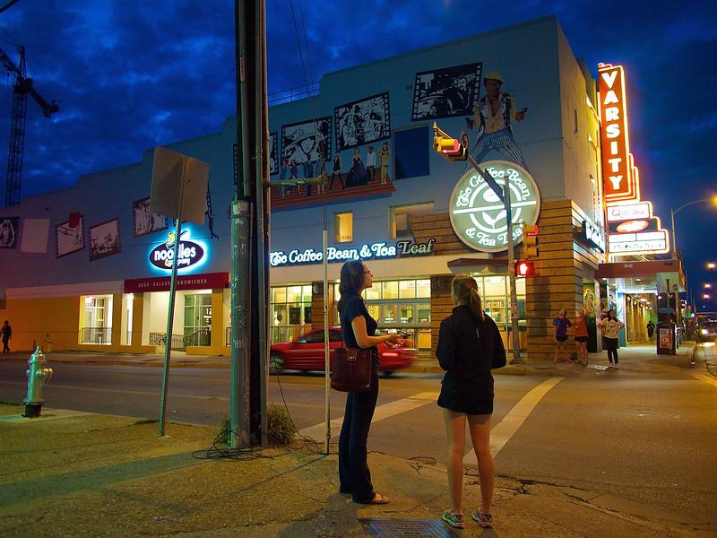 Blue Hour on the Drag, University of Texas - Austin, Texas