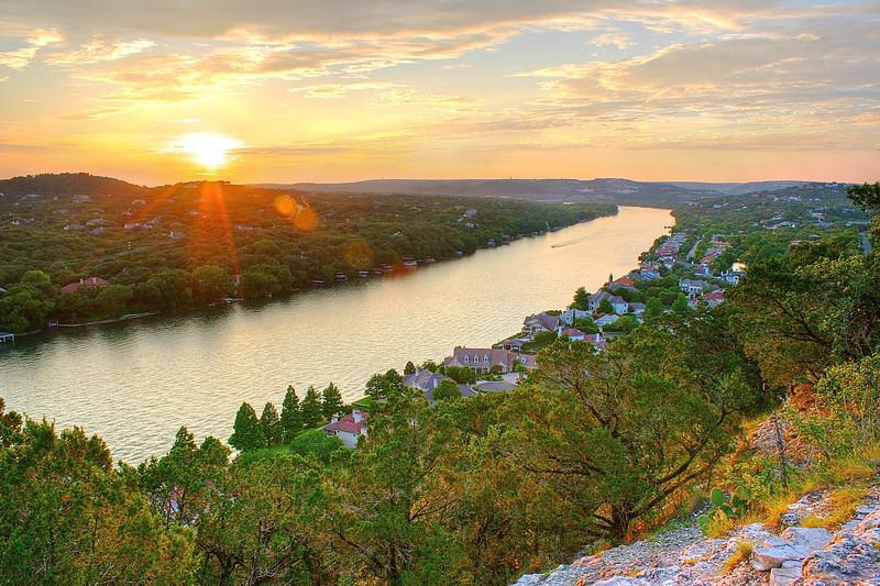 Mount Bonnell Sunset - Austin, Texas