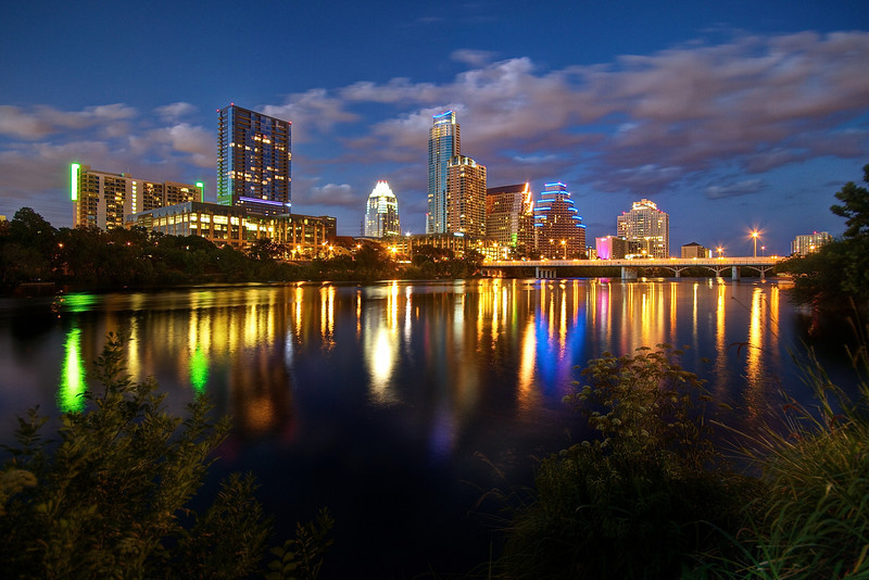 Downtown Skyline and Lady Bird Lake - Austin, Texas