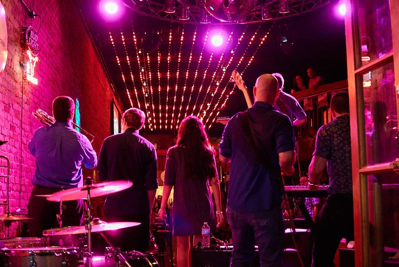 Colorful Performance, Bat Bar on 6th Street - Austin, Texas