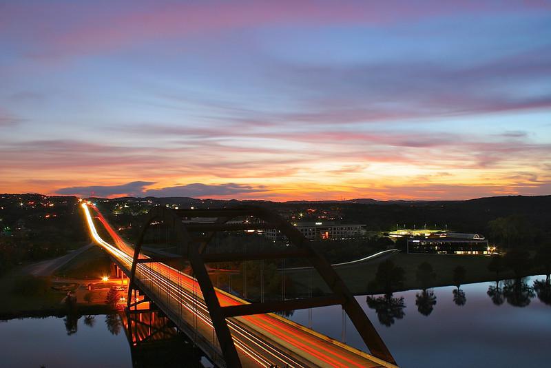 360 Bridge Light Trails Western View - Austin, Texas