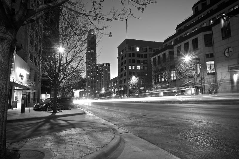 Congress Avenue Light Streaks - Austin, Texas