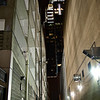 Frost Tower through alleyway - Austin, Texas