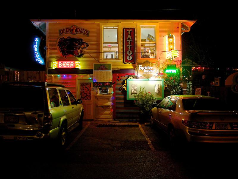 Beer, Tattoo, Spider House   Austin, Texas