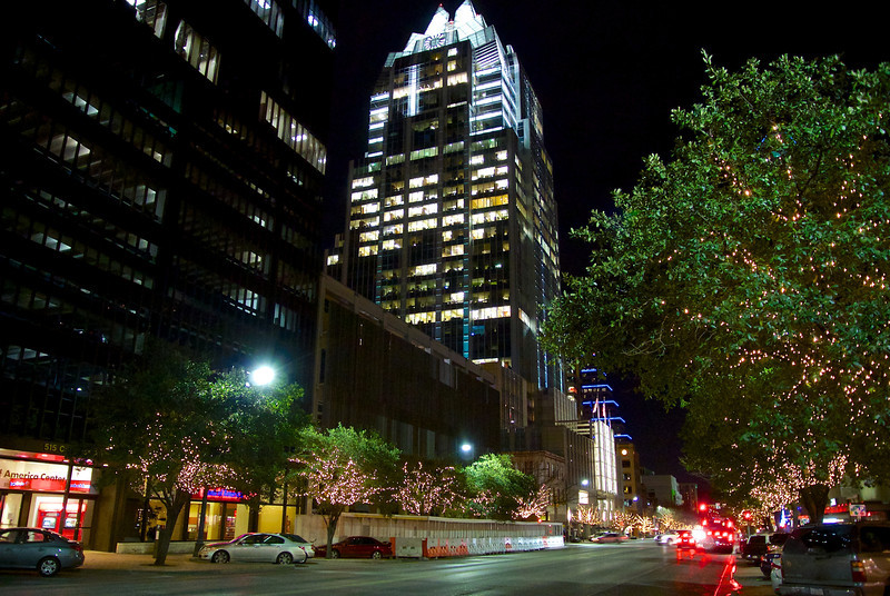 Frost Tower from Congress Avenue -- Austin, Texas