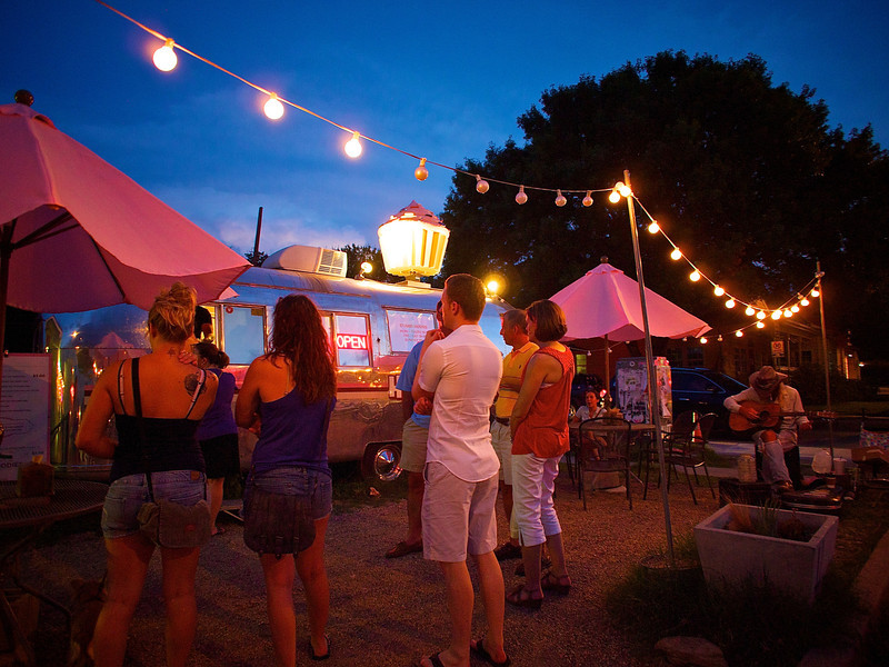 Customers at Hey Cupcake Trailer #1,  SoCo - Austin, Texas