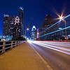Congress Avenue Bridge Light Trails - Austin, Texas