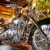 Glowing Harley on 6th Street - Austin, Texas