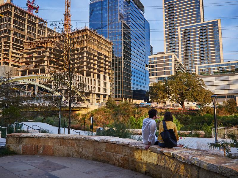 A Couple and a Growing Skyline - Austin, Texas