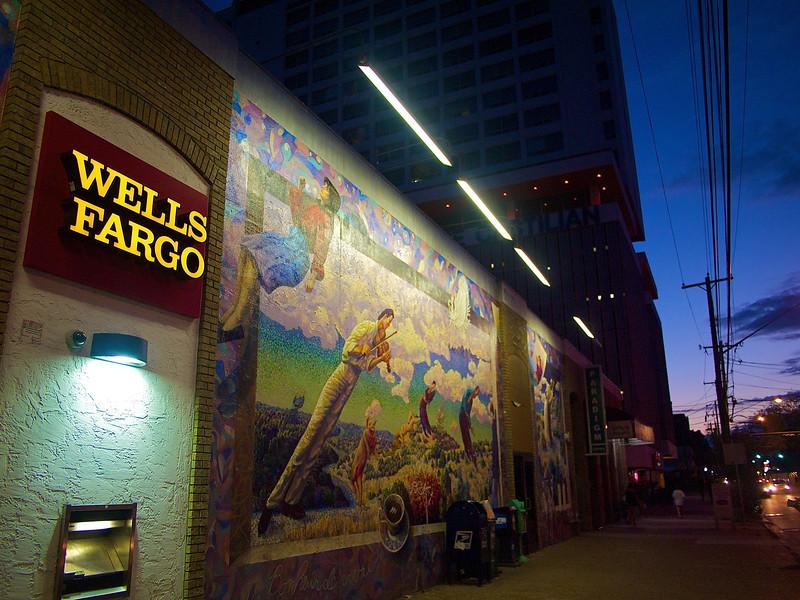 Wells Fargo and the Mural - Austin, Texas