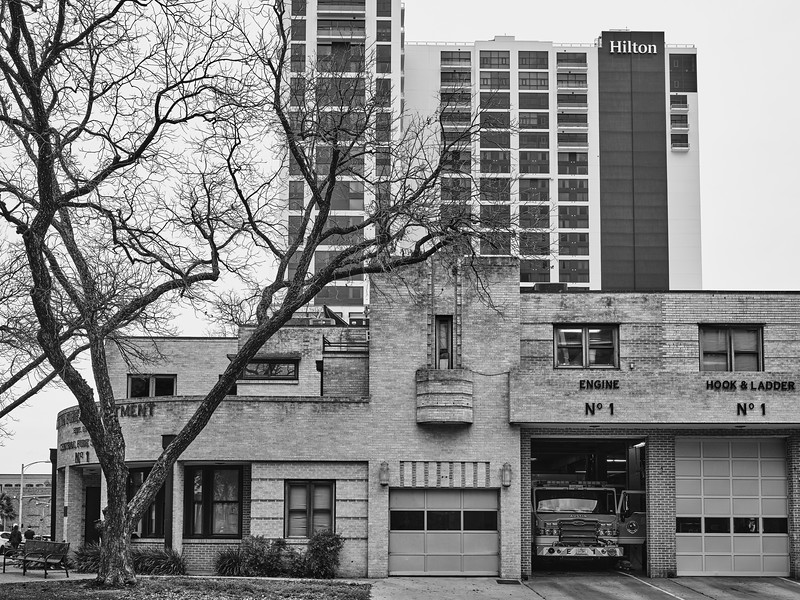 Fire Station #1 and Hilton - Austin, Texas