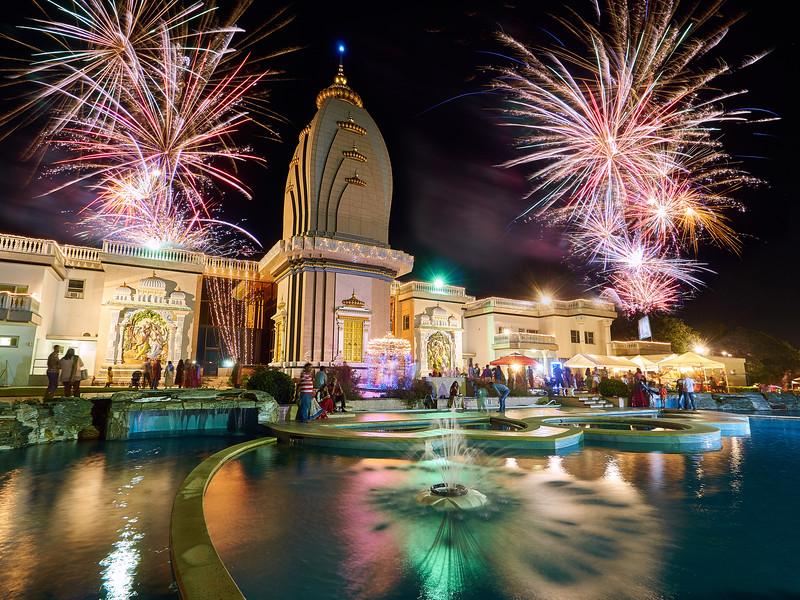 Idealized Diwali Fireworks - Austin, Texas