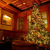 Cozy and Festive Corner, Driskill Bar - Austin, Texas