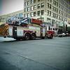 Fire truck, Congress Avenue - Austin, Texas