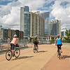 Three Cyclists - Austin, Texas