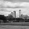 Soccer Field and Skyline - Austin, Texas