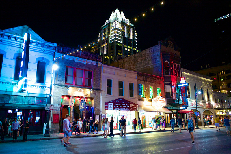Before the Crowds, 6th Street - Austin, Texas