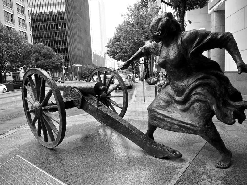 Angelina Eberly Statue - Austin, Texas