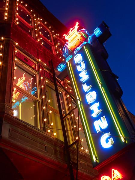 Neon at Blue Hour, 6th Street - Austin, Texas