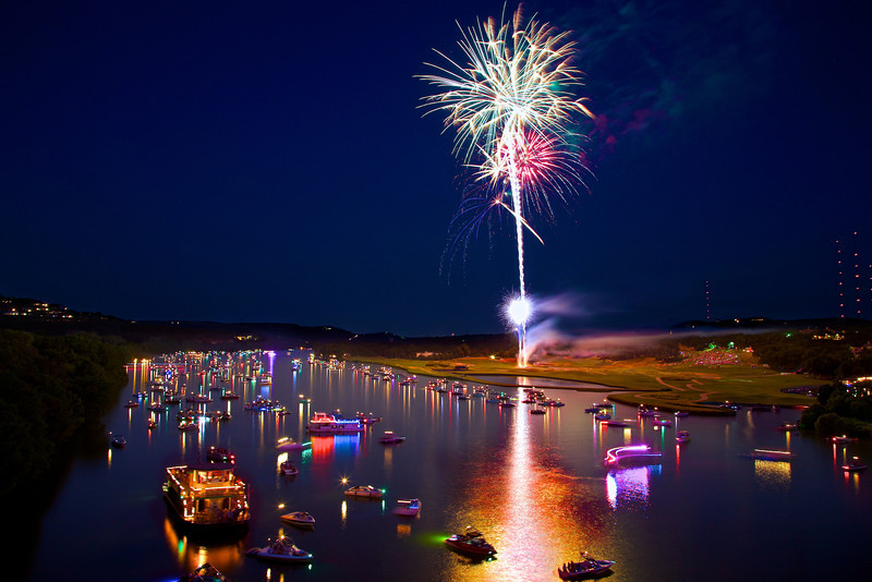 Fireworks over Lake Austin (2013) - Austin, Texas