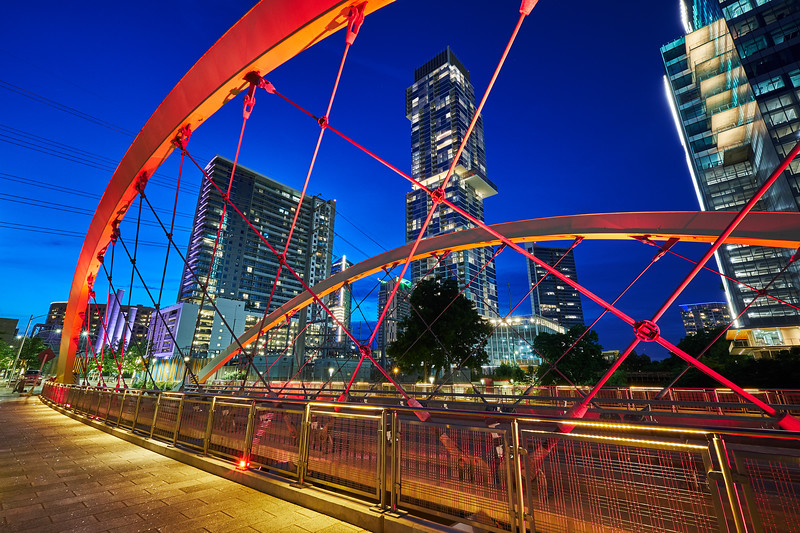 Blue Hour, 2nd Street Bridge - Austin, Texas