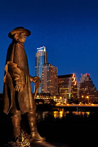 Stevie Ray Vaughn statue on Town Lake, we miss him so.