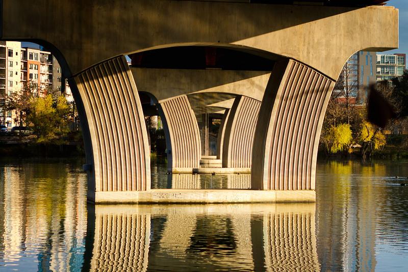 Town Lake walking bridge