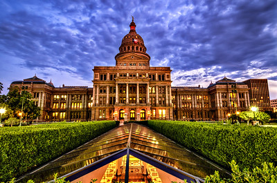 Living in Austin gives you the opportunity to capture a wide range of images. One very iconic image is that of the Capitol. I like to revisit the location from time to time to try and get a new take on its beauty. As I set up and waited for the sun to set, the clouds started rolling in with a very ominous tone. This image shows the office area under the building where most of the offices are.