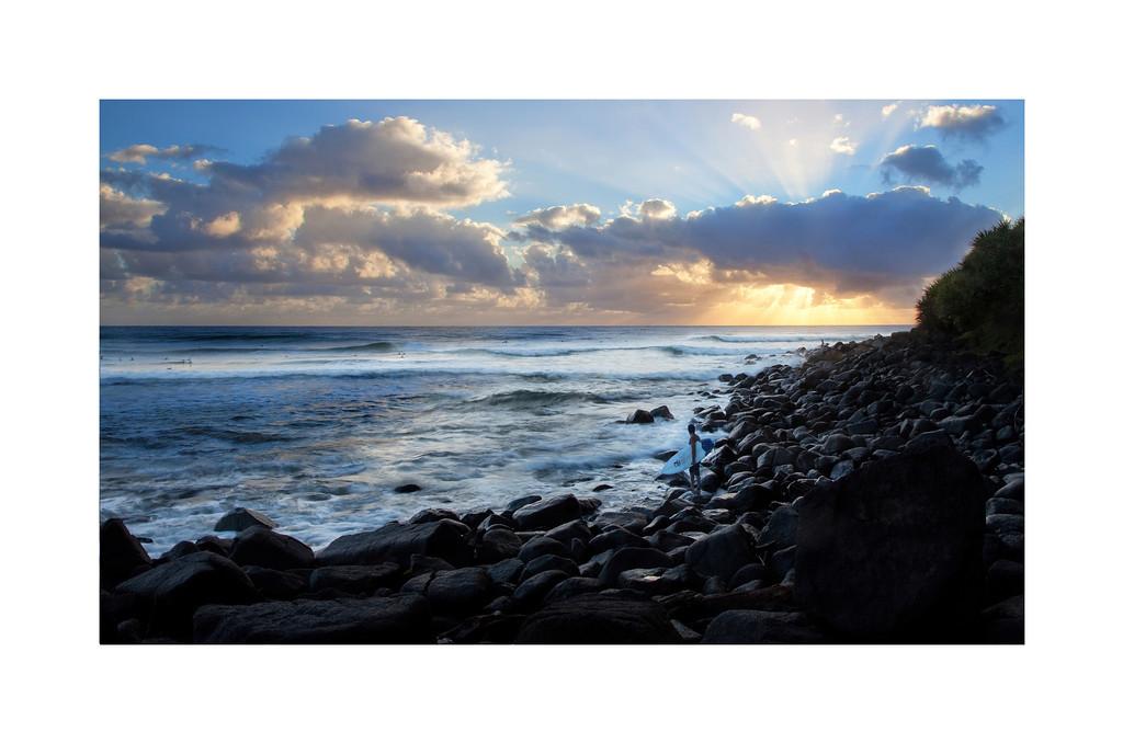 Dawn Patrol - Burleigh Heads, Australia. The surf is up!