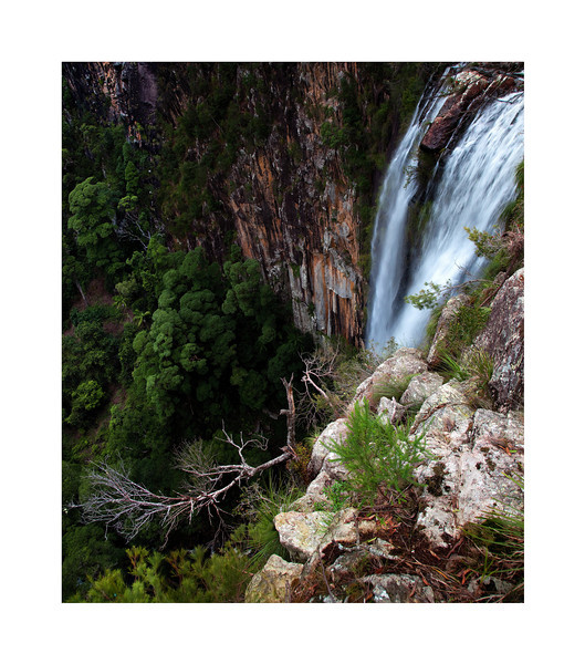 Over The Edge - Minyon Falls - Nightcap National Park, Australia.